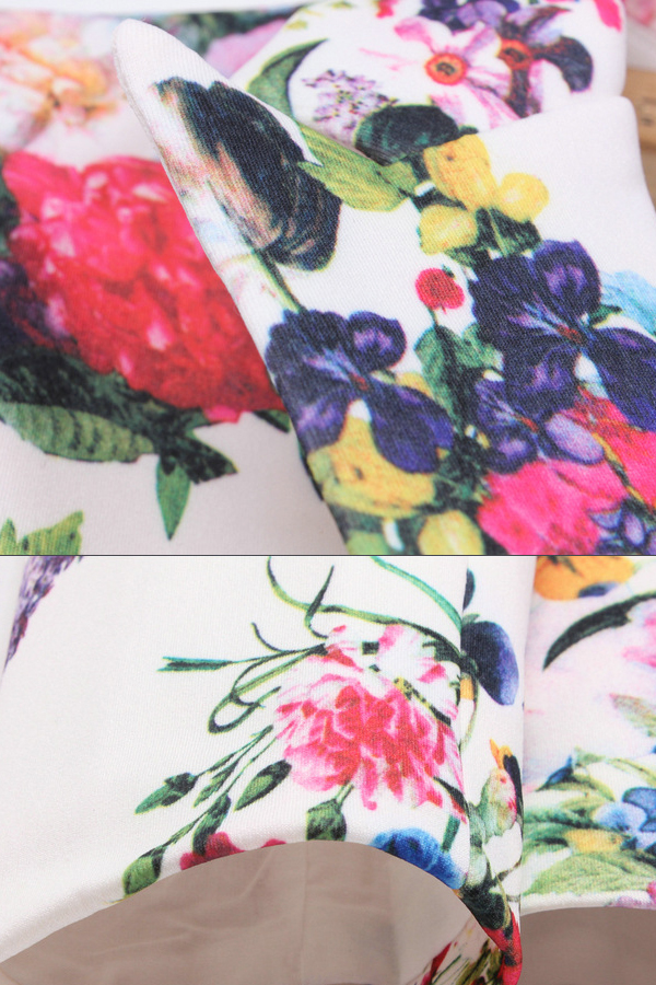 Autumn Casual Turnneck Floral Print Women Suit_Blazer&Suits_Womens Clothing_Cheap Clothes,Cheap Shoes Online,Wholesale Shoes,Clothing On lovelywholesale.com - LovelyWholesale.com