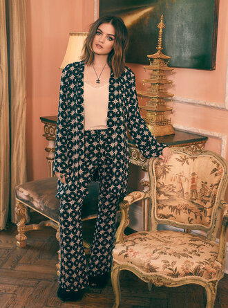 pajamas lucy hale pants blouse top