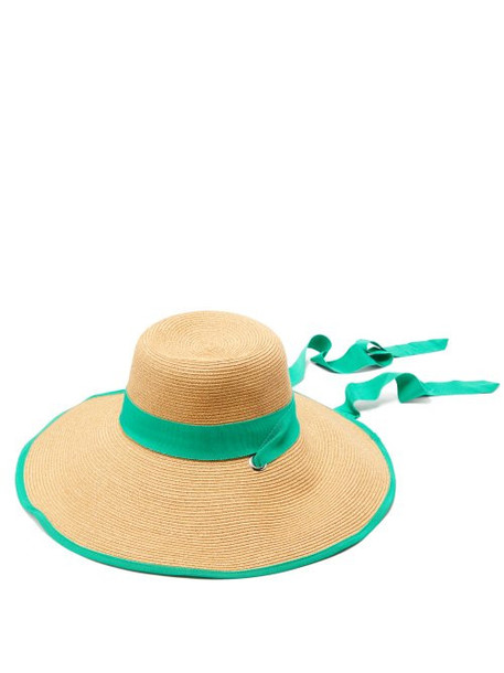 Filù Hats - Arenal Wide Brimmed Straw Hat - Womens - Green