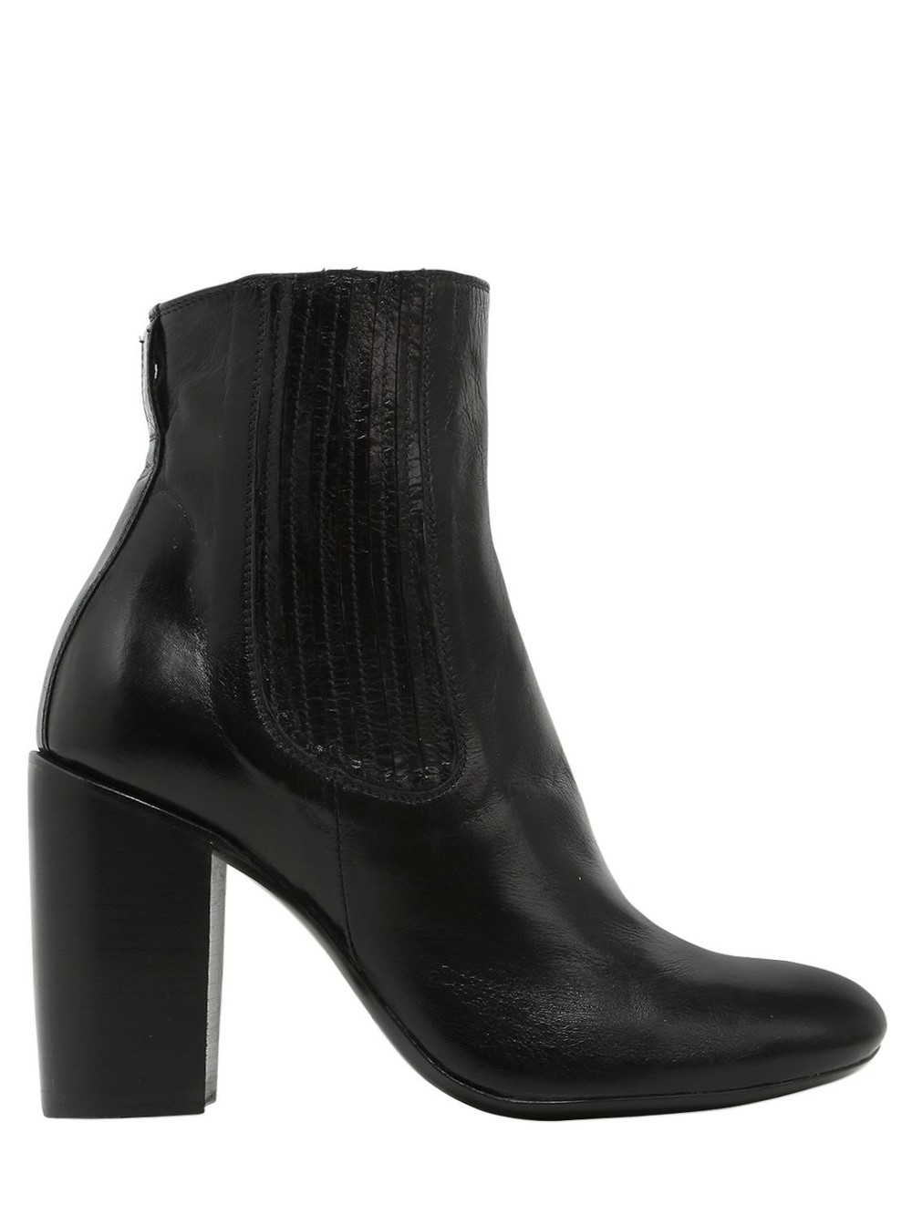 ROCCO P. 90mm Leather Ankle Boots in black