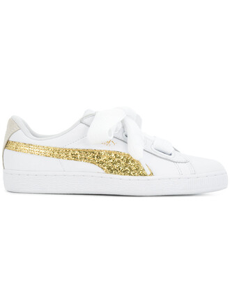 glitter women sneakers leather white shoes