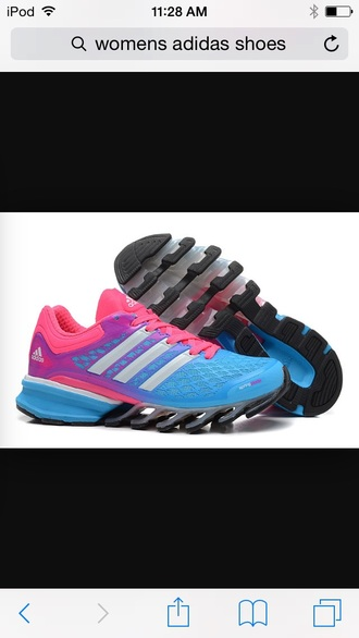 shoes blue purple adidas shoes running shoes pink shoes