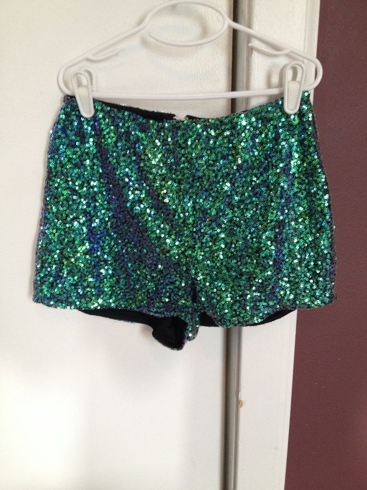 Sparkly Green Shorts March 2017