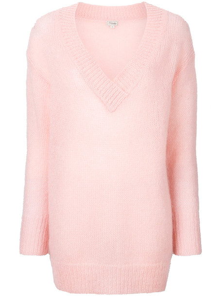 Temperley London jumper women mohair purple pink sweater