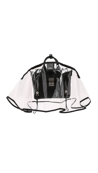 mini clear handbag black bag