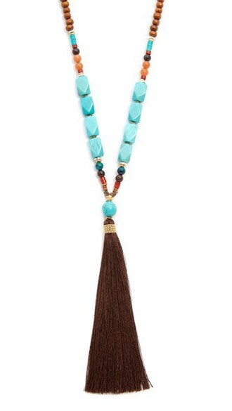 necklace brown turquoise jewels