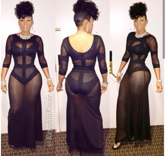 dress keyshia kaoir see through mesh little black dress maxi dress bodycon bandage dress hat