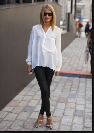 blouse top oversized blouse oversized top white blouse loose fit loose top tunic top
