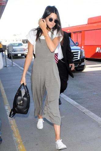 jumpsuit top pants kendall jenner overalls sneakers grey shoes