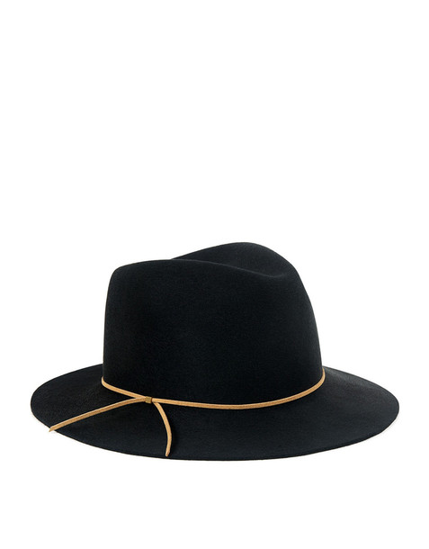 Eugenia Kim Everett Suede Cord Band Fedora Black