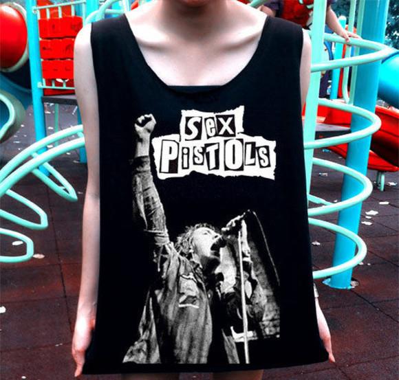 t-shirt punk metal black tank top shirt