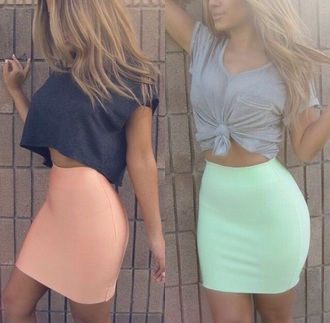 skirt coral skirt teal tight tight skirt cute skirts red lime sunday