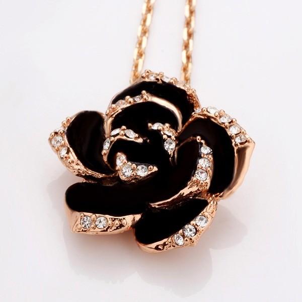 jewels necklace black rose diamonds
