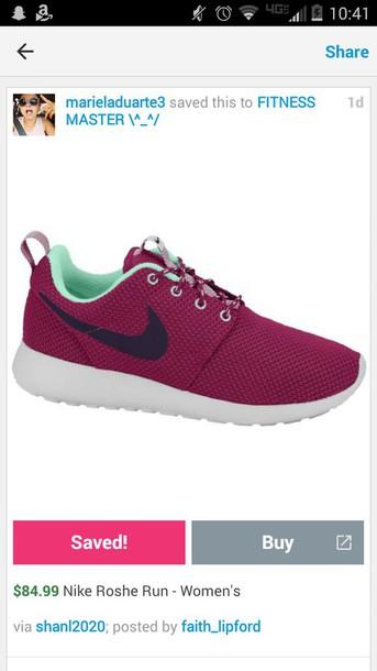 shoes nike roshe run burgundy burgundy