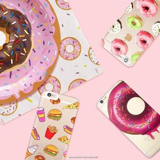 phone cover milkyway cases fast food pizza phone pink phone case doughnut phone case milkywaycases iphone 5 case iphone 4 case iphone 5s