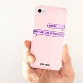 phone cover,iphone 5 case,iphone case,princess,shut up,yeah bunny