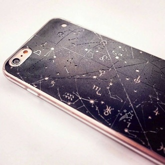 phone cover dark blue black constellations stars night nightsky sky