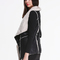 Black sleeveless contrast apricot lapel outerwear - sheinside.com