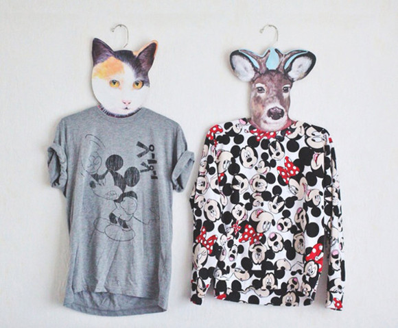 blogger jumper t-shirt mickey mouse minnie mouse