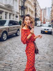 not jess fashion,blogger,dress,bag,jewels,red dress,maxi dress