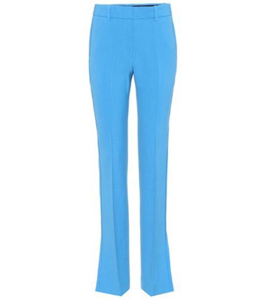 Victoria Victoria Beckham wool blue pants