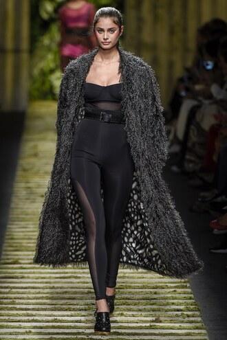 pants leggings coat taylor hill milan fashion week 2016 runway bustier top belt max mara