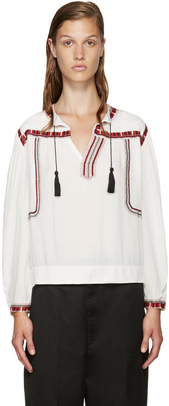 blouse embroidered top