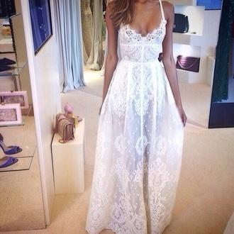 dress white lace white lace white lace dress lace dress long long dress white dress white long dress summer summer dress