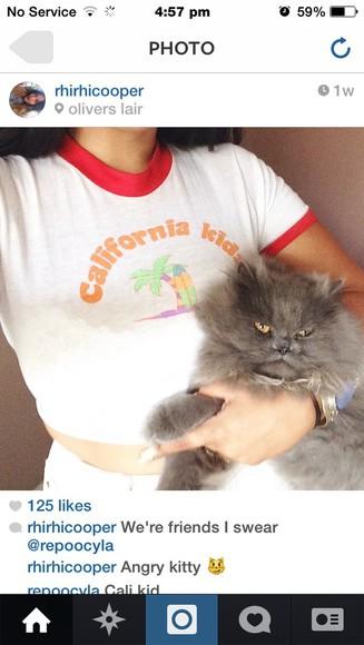 t-shirt california kids fashion cropped
