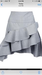 skirt,balenciaga,ruffle,pinstripe