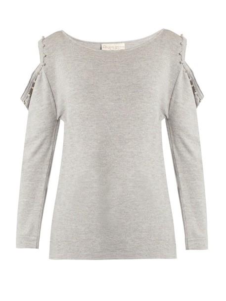 ALEX GORE BROWNE sweater wool light grey