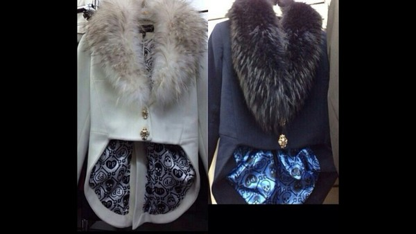 jacket fur collar tuxedo jacket