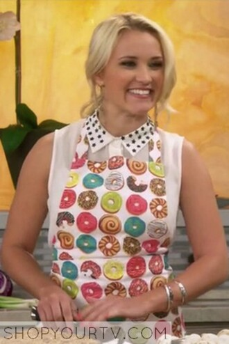 home accessory apron donut colorful kitchen emily osment