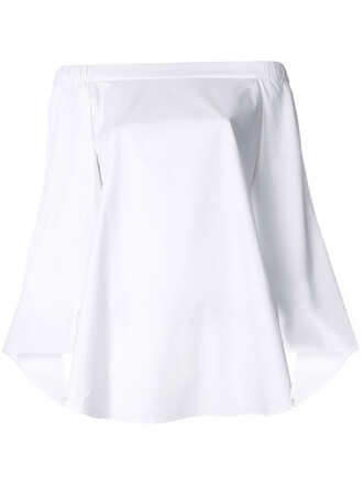 tunic off the shoulder women white cotton top