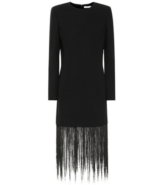 Givenchy Fringed wool minidress in black
