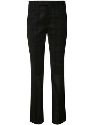 women cotton black wool pants