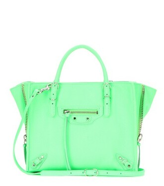 mini zip bag shoulder bag leather green