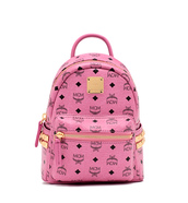 bag,backpack,pink,mcm,mcm bag,mcm backpack