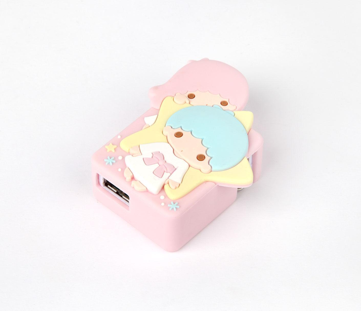 Little Twin Stars USB Wall Charger: Peek