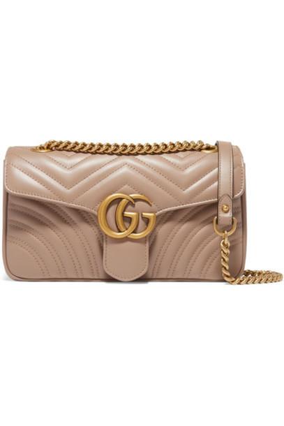 quilted bag shoulder bag leather beige