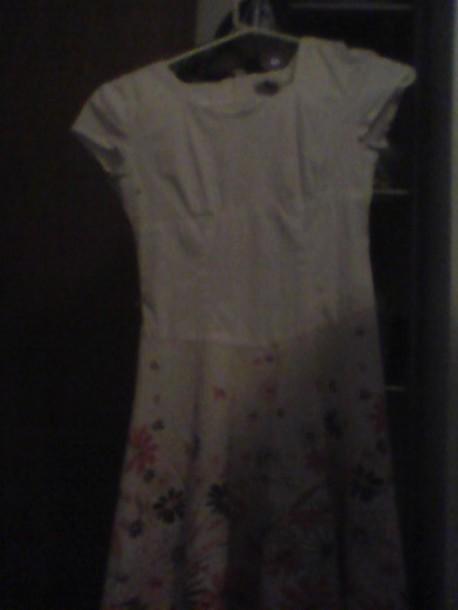 dress white dress cotton dress..