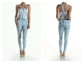 jumpsuit,light blue,stonewash,pinkdaggershoes,denim,overalls,bleached,new