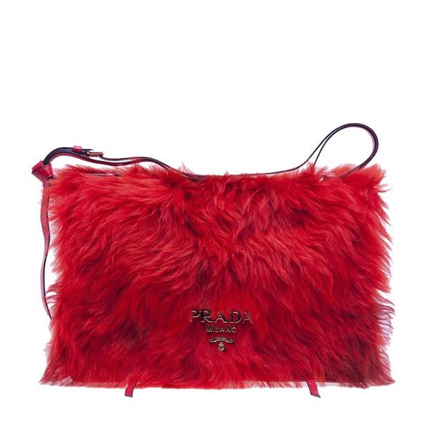 Prada bag orange red