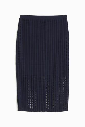 skirt maxi skirt maxi jacquard navy