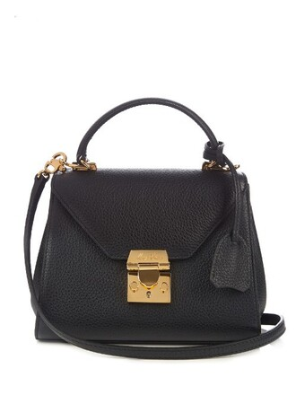 cross baby bag leather black