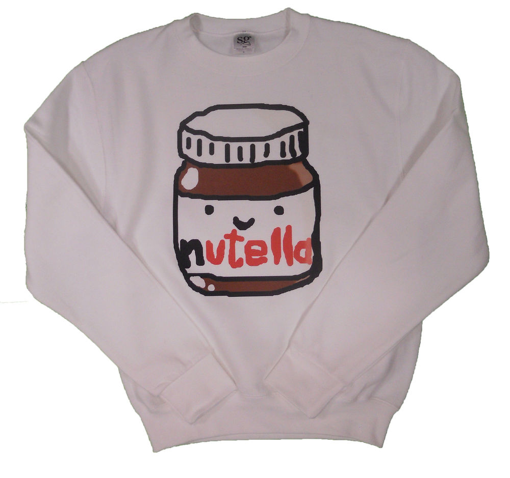 HIPSTER CHOCOLATE NUTELLA ITALY JUMPER SWEATER CHRISTMAS GIFT TOP SWEATSHIRT | eBay