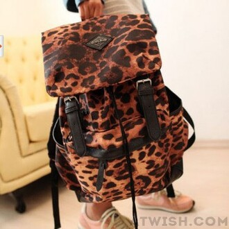 bag leopard print backpack