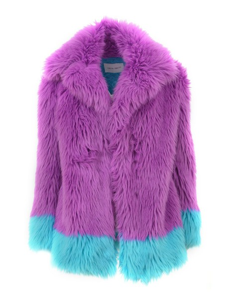 Alberta Ferretti coat blue purple