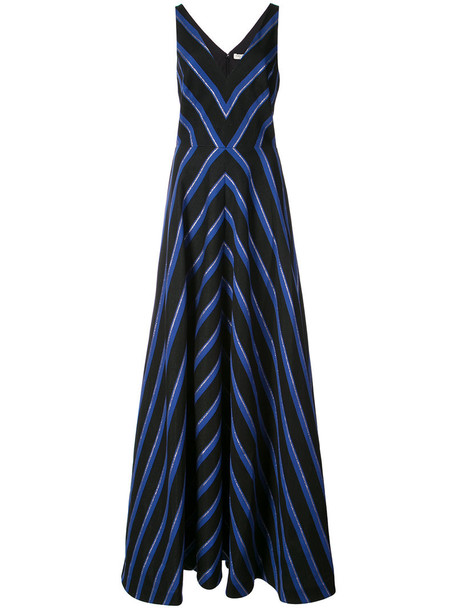 Halston Heritage dress metallic women blue