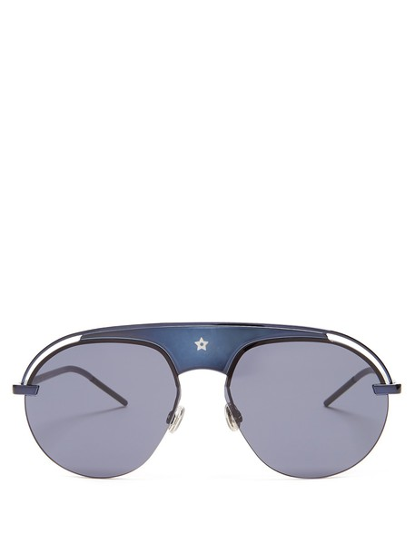 dior sunglasses aviator sunglasses blue